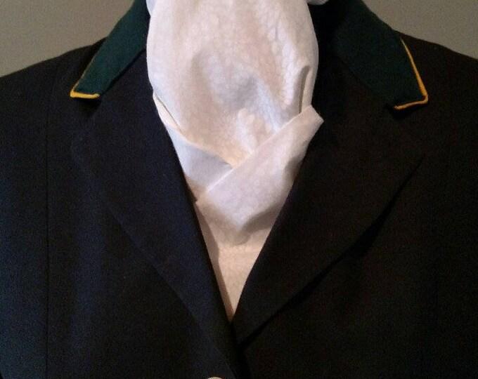 White on White Burst Pattern Stock Tie