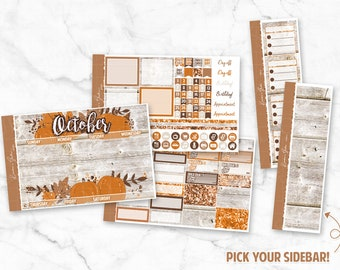 """October """"Hello Fall"""" Monthly Planner Sticker Kit 