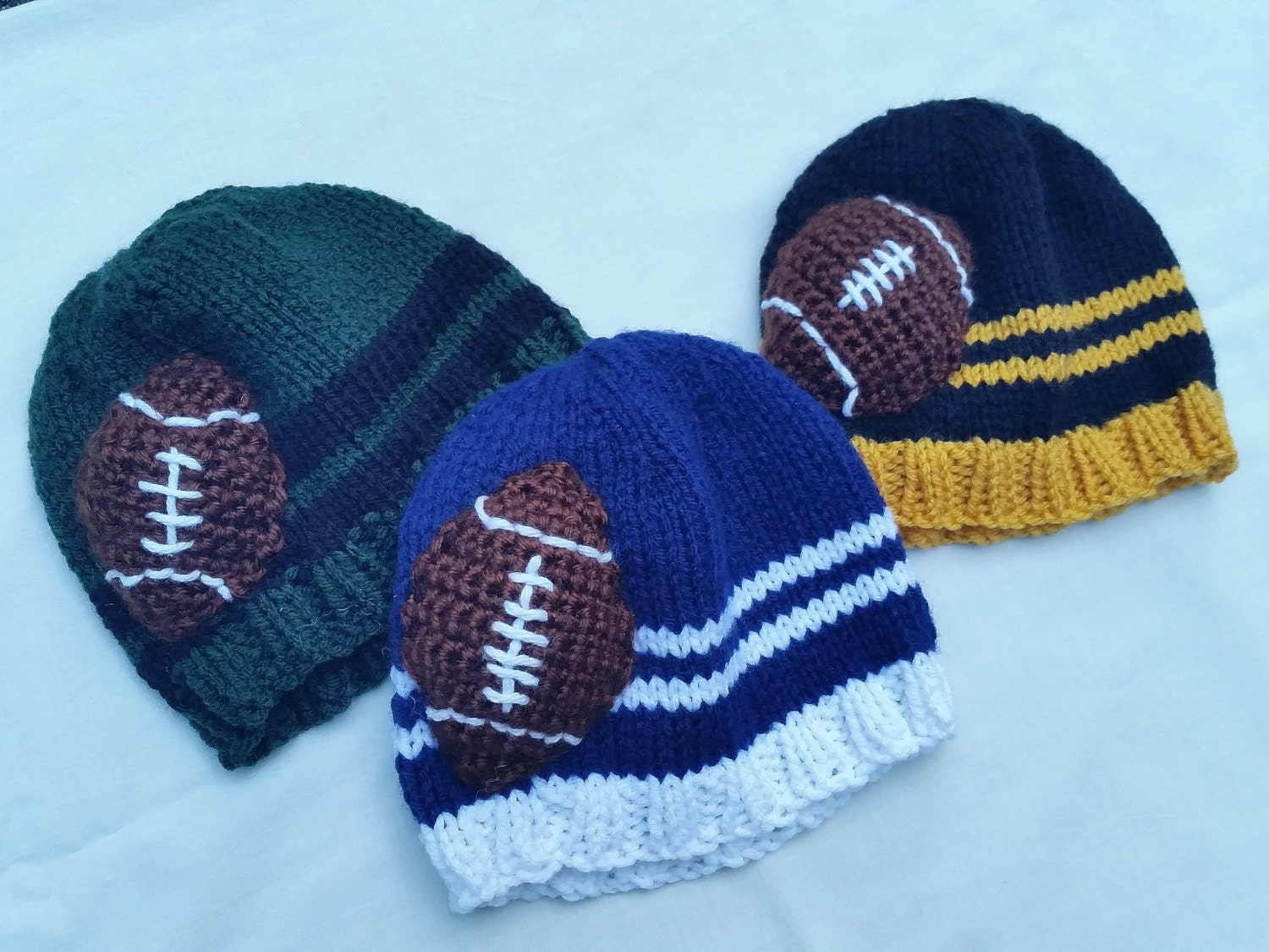 146421e3429 Custom Color College Football   NFL Team Hats for Kids   Baby