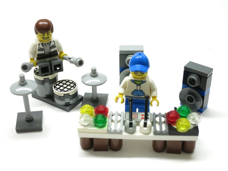Mini Kühlschrank Rockstar : Lego 2 dj & rockstar rockband band drummer trommel set moc etsy