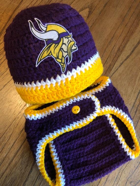 ebfd1a926 Minnesota Vikings Baby Boy Newborn Football Hat and Diaper