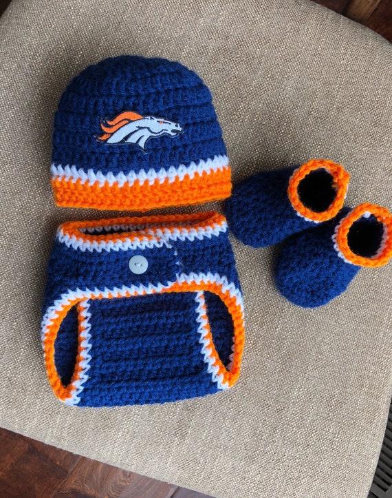 294dc612d Denver Broncos Football Newborn Hat and Diaper Cover Set Baby