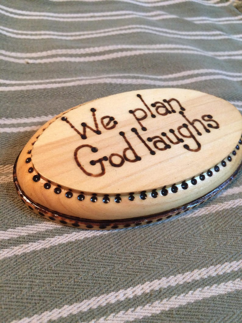 Wood Burned Plaque Wooden Plaque Inspiration Gift Wall image 0