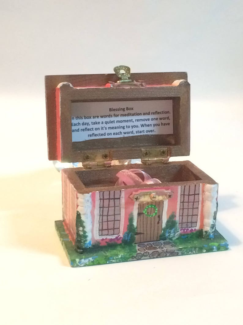 Blessing Box Inspiration Box Painted Box Wooden Box Gift image 0