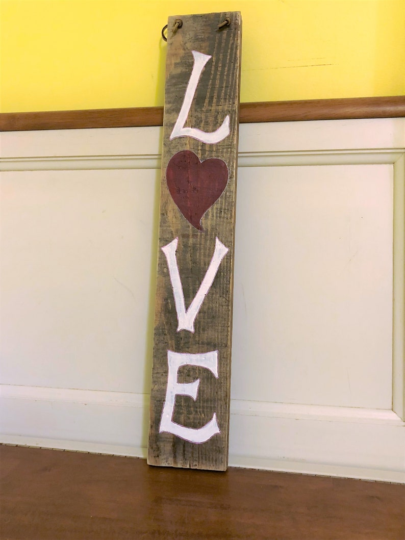 Pallet Sign Rustic Home Decor Farmhouse Style Salvaged Wood image 0