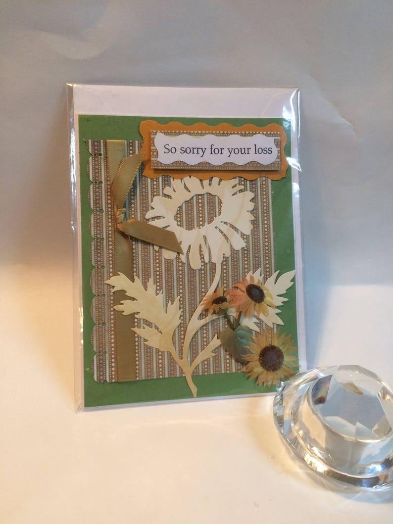 Sympathy Card Handmade Card Scrapbook Card Greeting Card image 0