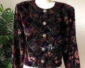 90s Paquette Velvet Jacket (Medium)