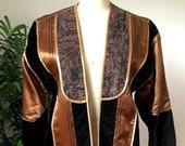 70s Opus 1 by Diana Bronze/Black Velvet Jacket (Medium)