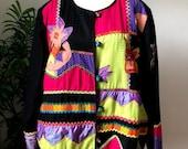 Julia Kin Abstract Patchwork Jacket (1X)