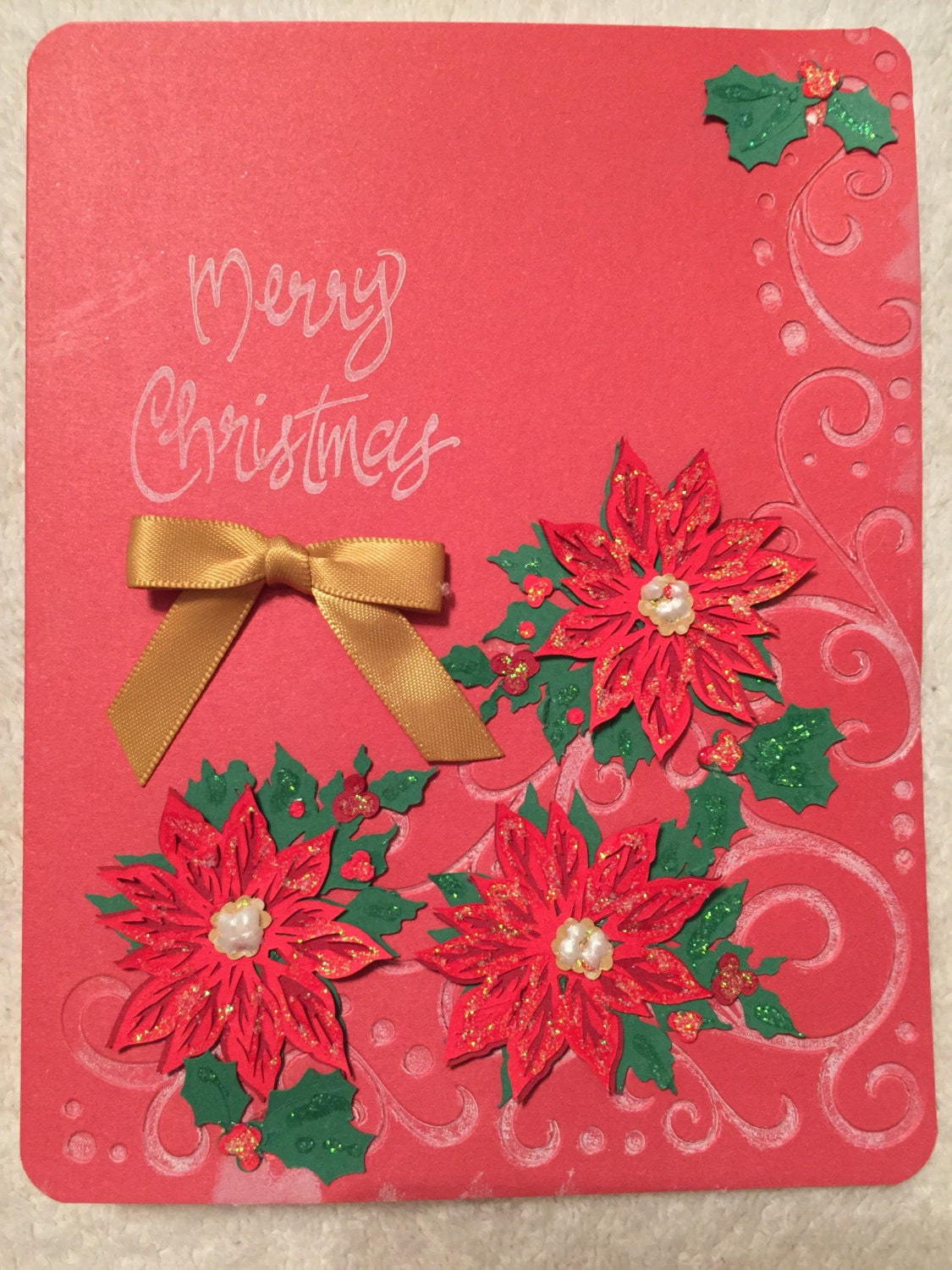 Christmas Beautiful Handmade Greeting Cards From The Heart Etsy