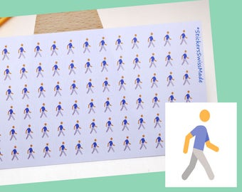 PLANNER STICKER || walking || sport || small colored icon | for your planner or bullet journal