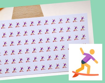 PLANNER STICKER || surfer || sport || small colored icon | for your planner or bullet journal