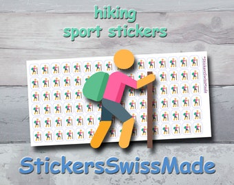PLANNER STICKER    hiker   trekking    sport    small colored icon   for your planner or bullet journal