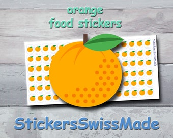 PLANNER STICKER    orange    food    fruit    small colored icon   for your planner or bullet journal