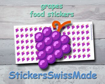 PLANNER STICKER    grapes    food    fruit    small colored icon   for your planner or bullet journal