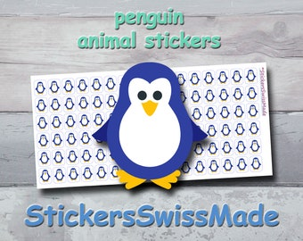 PLANNER STICKER    penguin    animal stickers    small colored icon   for your planner or bullet journal