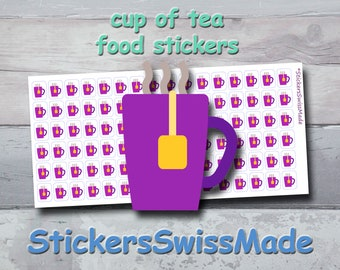 PLANNER STICKER    cup of tea    food    small colored icon   for your planner or bullet journal