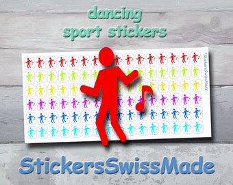 PLANNER STICKER    dancer     sport    small rainbow colored   for your planner and bullet journal