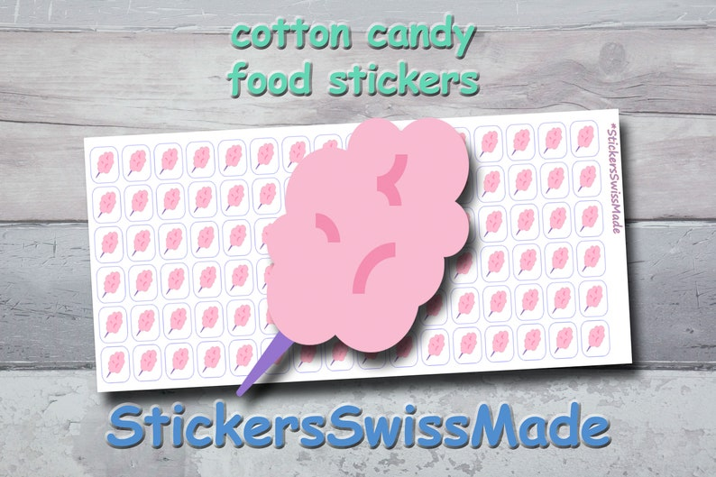 PLANNER STICKER cotton candy food icon small colored icon image 0