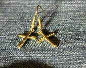 Cross Earrings, Gold Cross Earrings, Dangle Cross Earrings, Christian Cross, Women's Gifts, Christian Jewelry, Cross, Religeous Jewelry