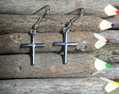 Cross Earrings, Silver Cross Earrings, Dangle Cross Earrings, Christian Cross, Women's Gifts, Christian Jewelry, Cross, Religeous Jewelry