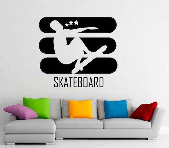 sc 1 st  Etsy : skateboarding wall decals - www.pureclipart.com