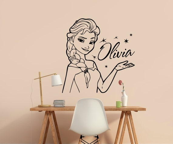 Personalised Any Name Frozen Wall Decal 3d Art Stickers Vinyl Room Bedroom 6