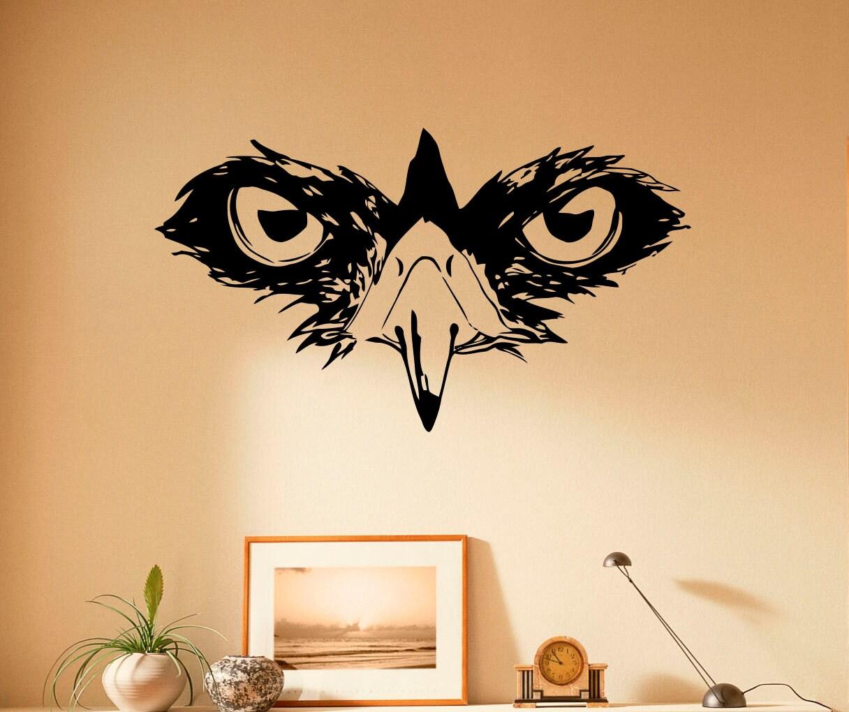 Muzzle Owl Wall Decal Eyes Owl Vinyl Stickers Bird Animal Home | Etsy