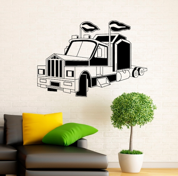 9s01t Semi Truck Wall Decal Vinyl Stickers Home Interior Art Design Murals Bedroom Wall Decor