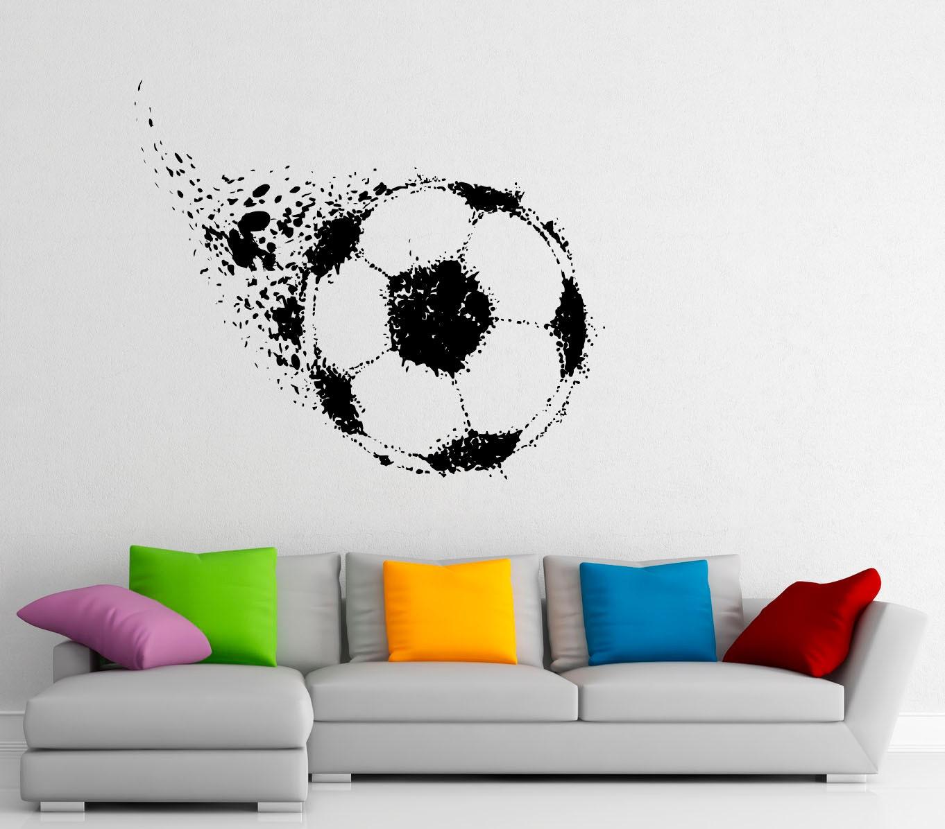 Futbol bola pared calcomanía fútbol vinilo pegatinas deporte   Etsy