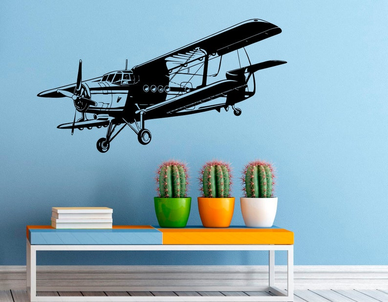 Airplane Wall Vinyl Decal Military Aviation Stickers Air Force Interior  Housewares Design Bedroom Home Decor (21a01a)