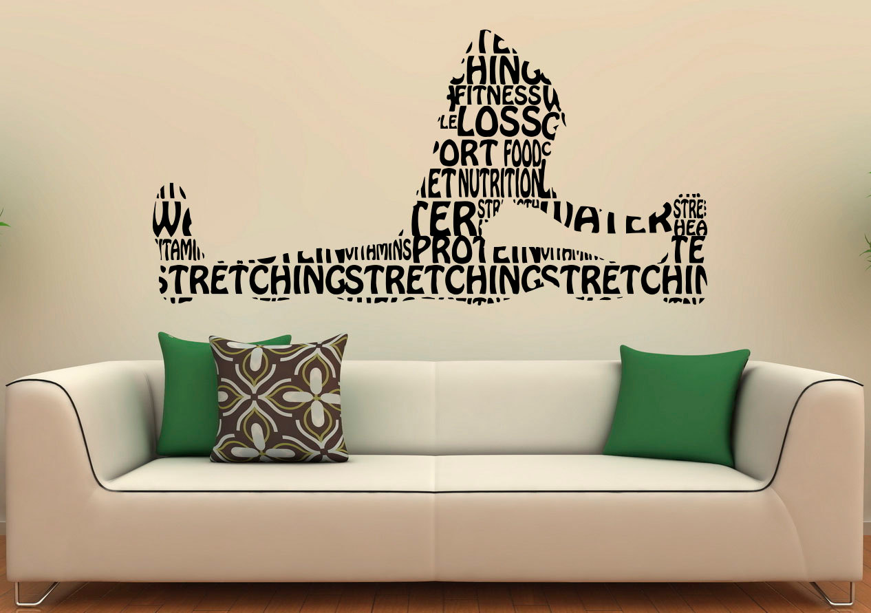 Fitness Wall Decal Gym Wall Stickers Sports Interior Bedroom Etsy