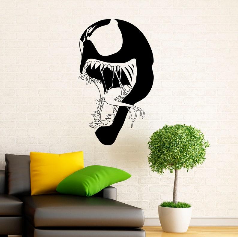 1nsc Venom Symbiote Wall Decal Vinyl Stickers Comics Superhero Home Interior Design Art Murals Decor