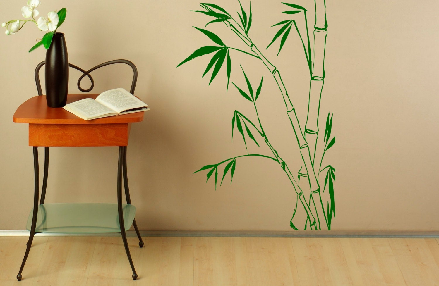 Bamboo Leaves Wall Decal Vinyl Stickers Nature Asian Home | Etsy