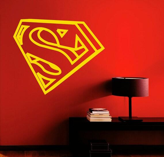 Superman Wall Decal Vinyl Stickers Comics Superhero Interior Home Design  Wall Art Murals Bedroom Decor (1su01n)