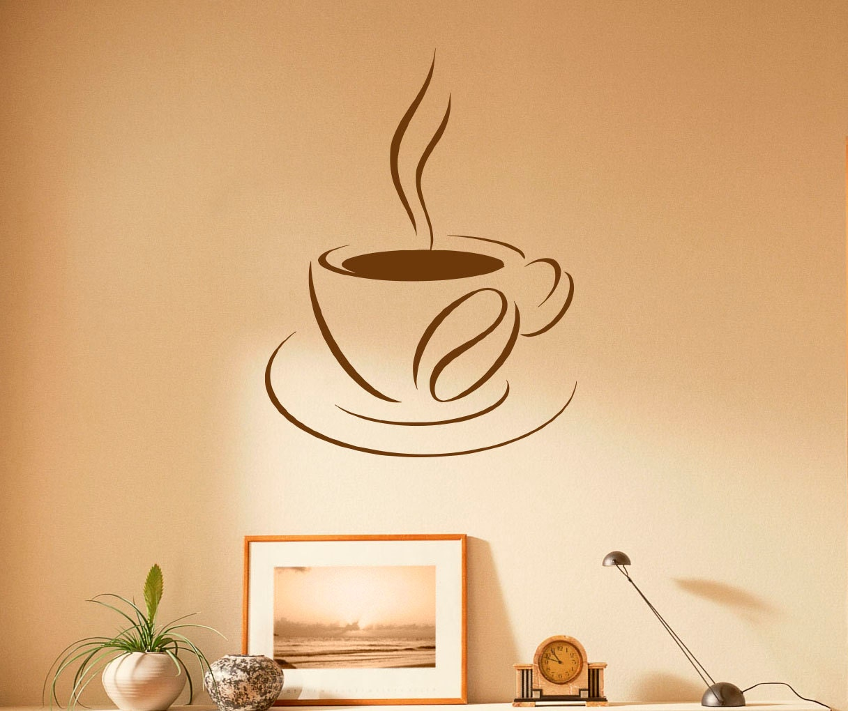 Coffee Cup Wall Decal Coffee House Vinyl Stickers Cafe   Etsy