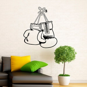 Boxing Wall Decal Vinyl Stickers Fighting Home Interior Art Design Murals Bedroom Wall Decor 13m01a