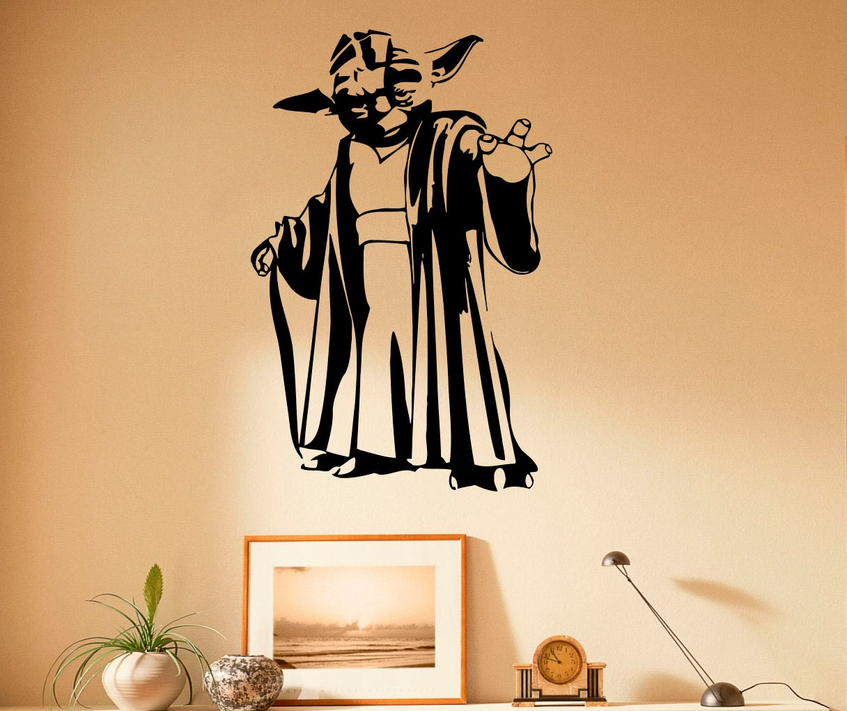 Master Yoda Wall Decal Vinyl Stickers Star Wars Home Interior | Etsy