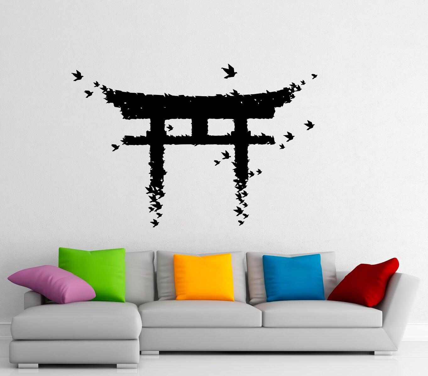 Torii Japanese Gate Wall Sticker Vinyl Decal Japanese Culture Etsy