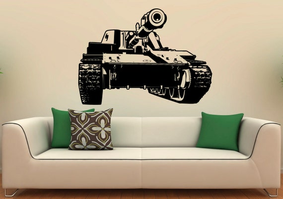 Tank Wall Vinyl Decal Military Vehicles Stickers Army Interior Housewares Military Home Decor Wall Design on mid century modern wall design, inspirational wall design, curtain wall design, handmade wall design, decorating idea wall design, exterior home wall design, rustic log cabin wall design, quilting wall design, modern interior wall design,
