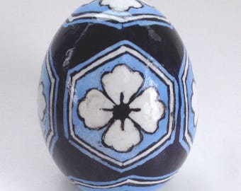 Chicken Egg Pysanka, Japanese Geometric