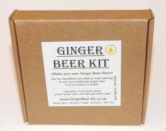 """Craft Ginger Beer Kit - """"create your own homemade Ginger Beer"""" soft drink - Refreshment"""