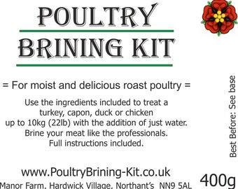 "Turkey Brining Kit - ""for moist and delicious roast turkey"" Christmas Thanksgiving"
