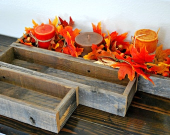 "18"" Reclaimed Barn Wood Skinny Box // Tray // Wedding Decor // Candles // Floral Arrangements // Succulents"