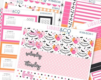 164KIT//ECW TRICK or TREAT 7X9 Daily Duo Kit for the Erin Condren Planner