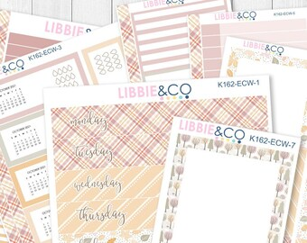 162KIT//ECW PASTEL AUTUMN 7X9 Daily Duo Kit for the Erin Condren Planner