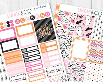 164KIT // EW TRICK or TREAT 2 Page Weekly Kit for the Vertical Erin Condren Planner!!!!
