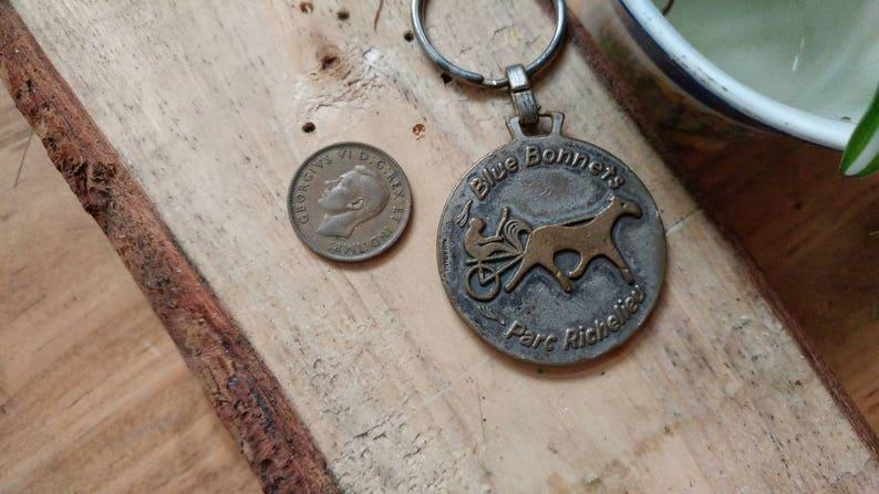 Blue Bonnets Park Richelieu Keychain \u2022 Montreal Quebec Souvenir Accessory \u2022 Montreal Blue Horse Beanie \u2022 Vintage Rare Souvenir Canada