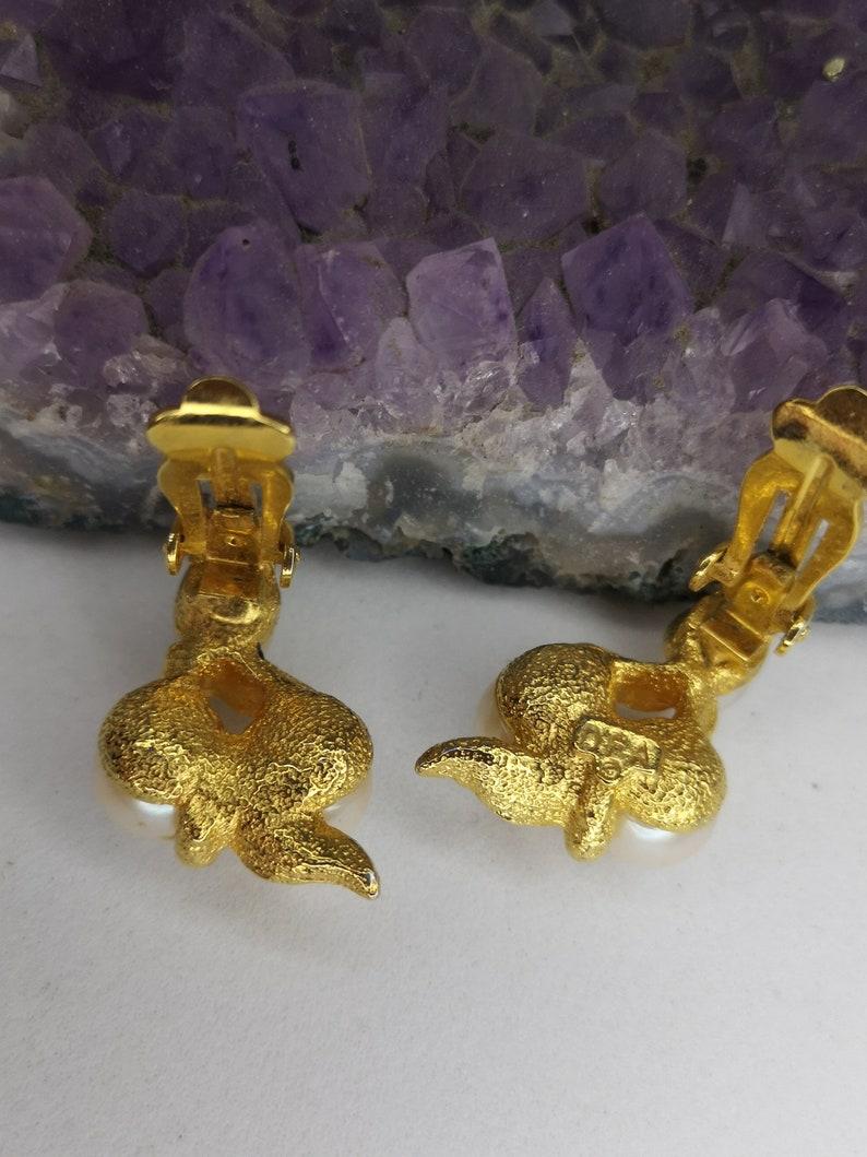 Earrings clip art deco geometric golden and silver \u2022 Good condition \u2022 Jewel retro old gold \u2022 Montreal shop