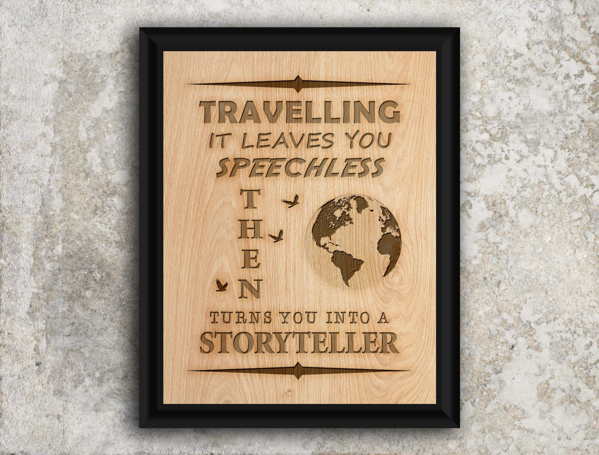 Travelling it leaves you speechless then turns you into a   Etsy